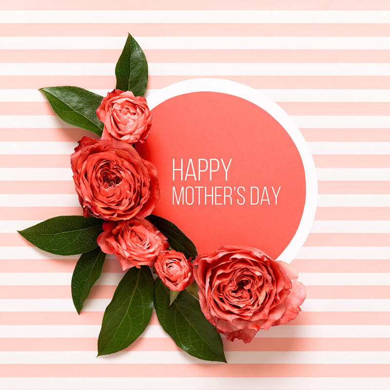 Happy Mother's Day Living Coral Pantone Color