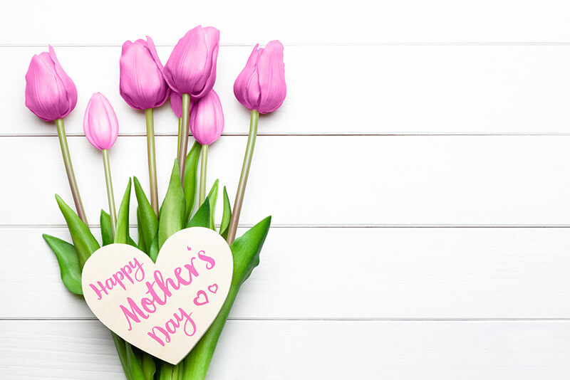 Happy Mother's Day - While Backround