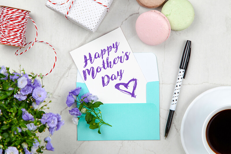Happy Mothers Day - Beside Pen, Macaroons