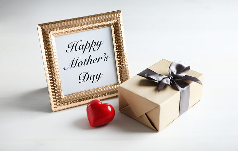 Happy Mothers Day - Gift Box And Photo Frame With Words