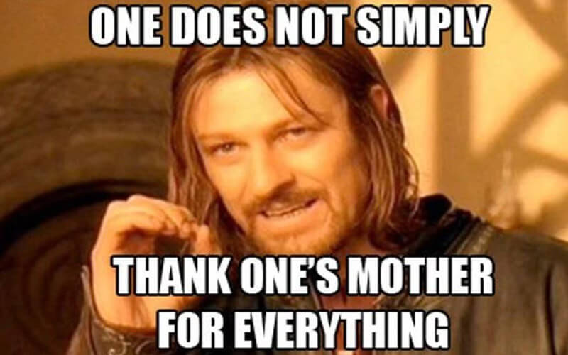 One Does Not Simply Thank One's Mother For Everything