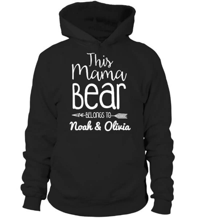 This Mama Bear Belongs To Noah & Olivia