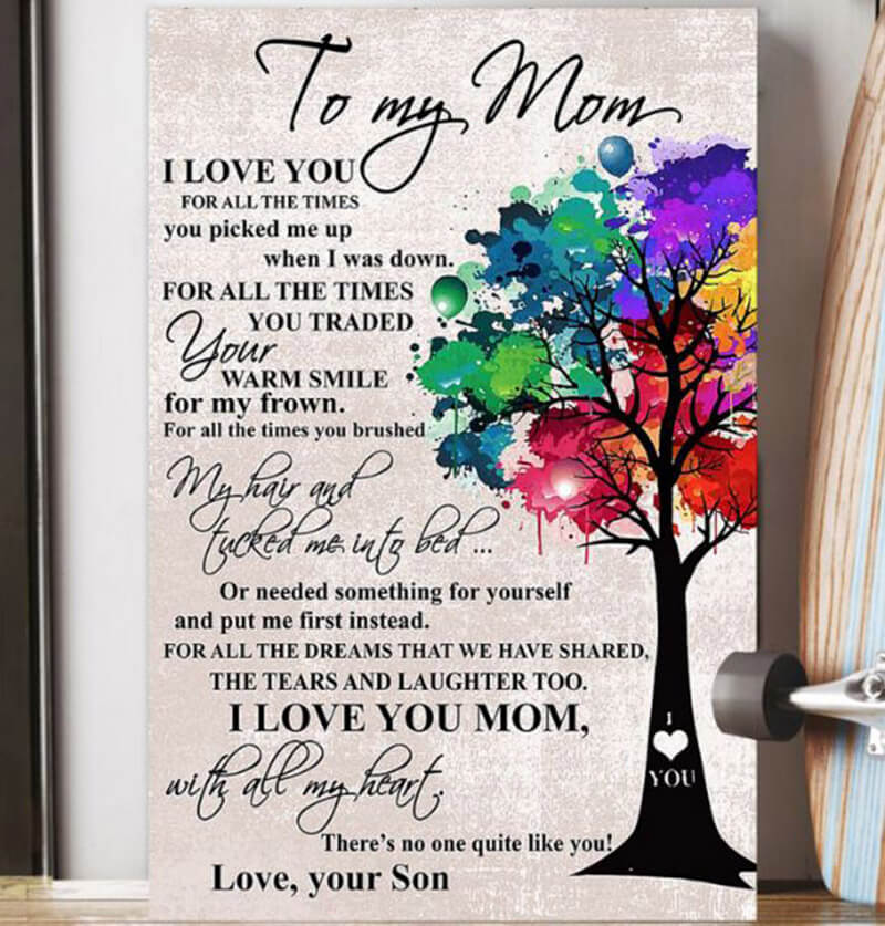 To My Mom I Love You For All The Times I Love You Mom Son
