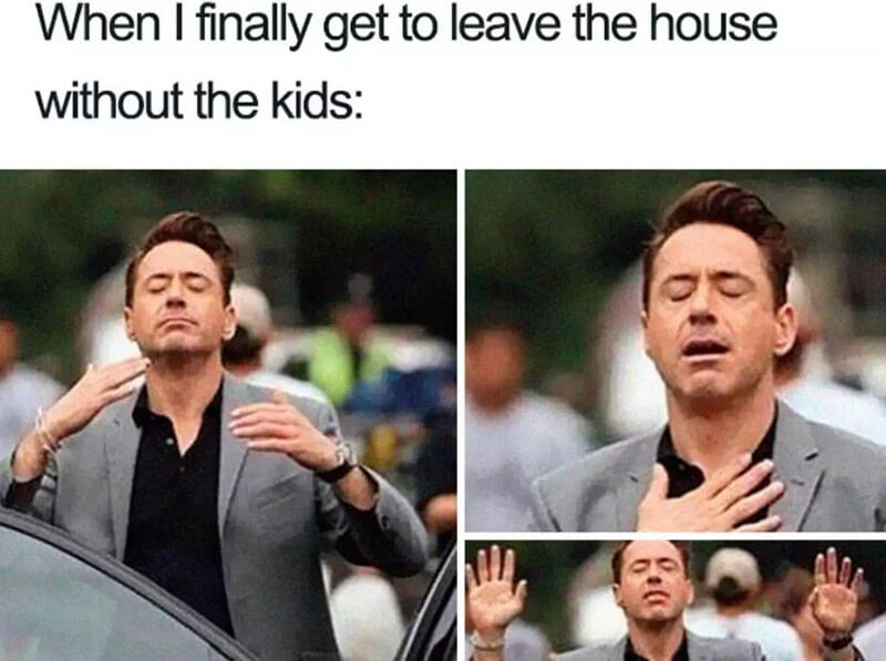 When I Finally Get To Leave The House With Thout The Kids...