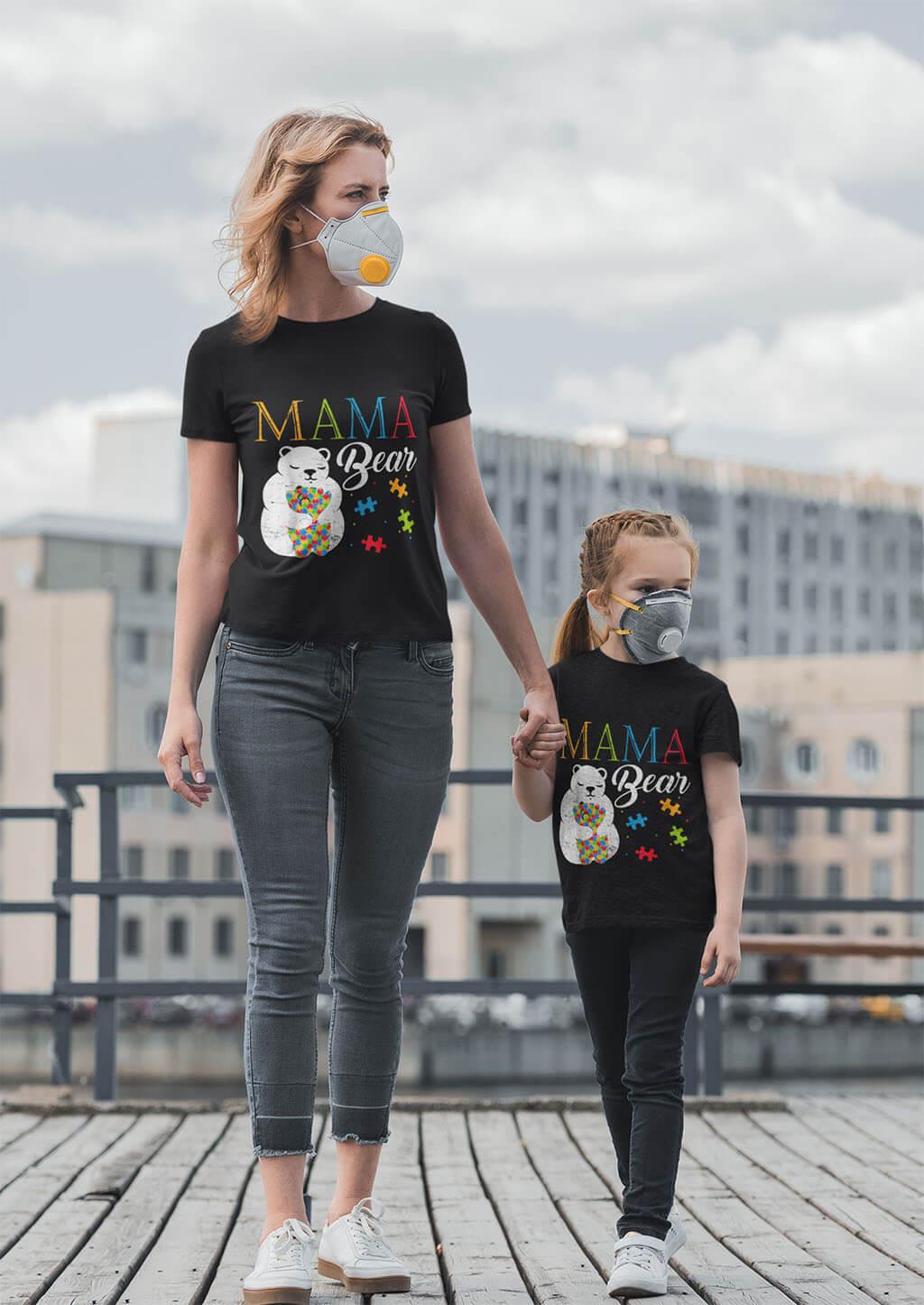 mama bear t shirt mockup
