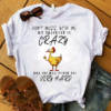 Don't Mess With Me My Daughter Is Crazy And She Will Punch You Very Hard Funny Gifts For Mom