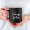 Grandma Is My Name Spoiling Is My Game Black Mug