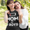 Mom Of 5 Boys Gift For Mother Wife Mom Funny T-Shirts