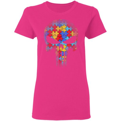 Skull Autism Awareness Mom Dad Kids Autism T-Shirts 9 of Sapelle