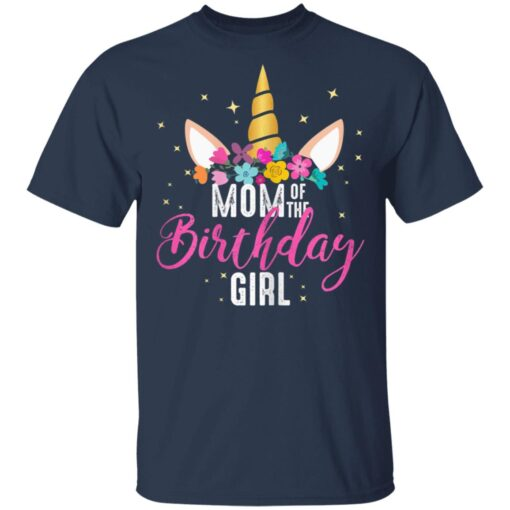 Mom Of The Birthday Girl Mother Gifts Unicorn Birthday T-Shirts 3 of Sapelle