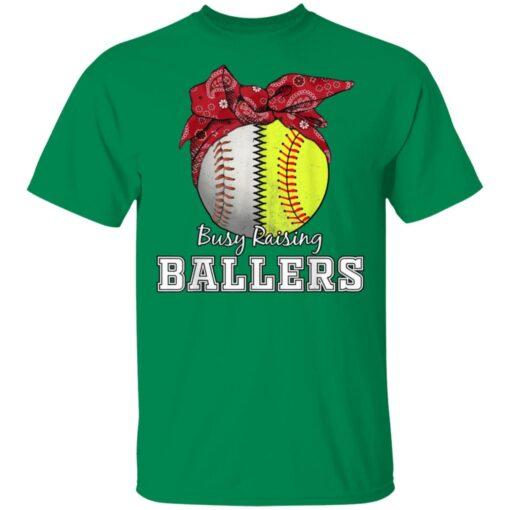 Busy Raising Ballers Softball Baseball Tee Baseball Mom Gift T-Shirts 6 of Sapelle