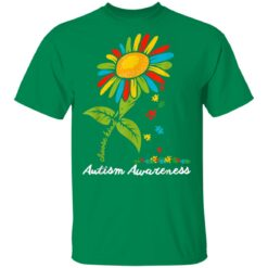 Choose Kind Autism Awareness Month Women Sunflower Mom Gift T-Shirts 18 of Sapelle