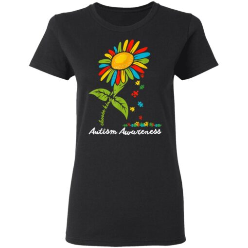 Choose Kind Autism Awareness Month Women Sunflower Mom Gift T-Shirts 6 of Sapelle