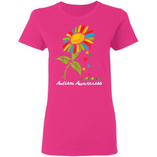 Choose Kind Autism Awareness Month Women Sunflower Mom Gift T-Shirts 7 of Sapelle