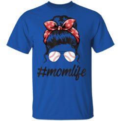 Mom Life Softball Baseball Mothers Day Messy Bun T-Shirts 19 of Sapelle