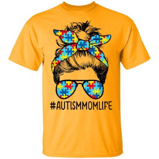 Autism Mom Life Messy Bun Sunglasses Bandana Mothers Day T-Shirts 2 of Sapelle