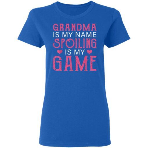Grandma Is My Name Spoiling Is My Game Tee Matching Family T-Shirts 11 of Sapelle