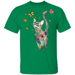 Tattooed Cat Butterfly Cat Mom T-Shirts 22 of Sapelle