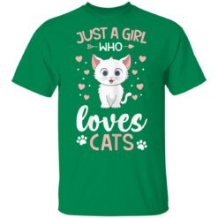Just a Girl Who Loves Cats, Cat Lover Owner Best Mom T-Shirts 22 of Sapelle