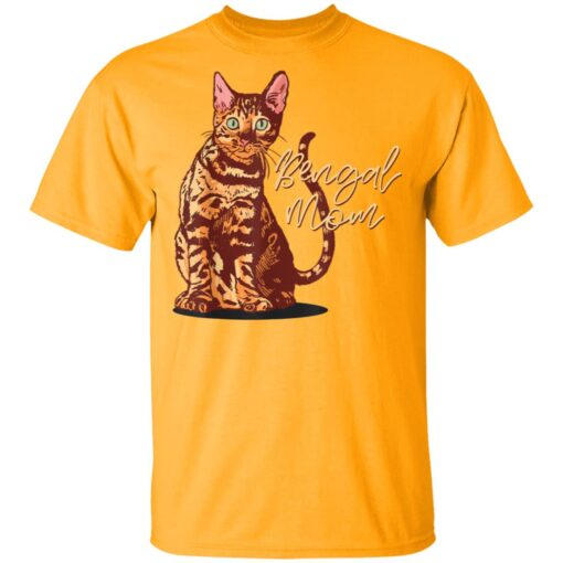 Bengal Cat Mom I Domestic Family Animal Friend T-Shirts 3 of Sapelle