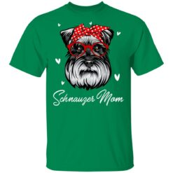 Schnauzer Mom Leopard Print Dog Lovers Mother Day Gift T-Shirts 22 of Sapelle
