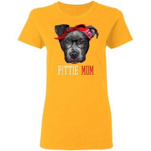 Pittie Mom Pitbull Dog Lovers Mothers Day Gift T-Shirts 8 of Sapelle