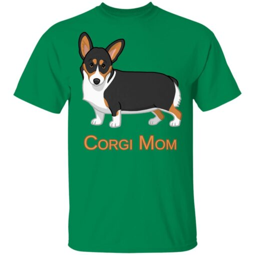 Black Tricolor Cute Pembroke Corgi Mom Dog Lover T-Shirts 6 of Sapelle