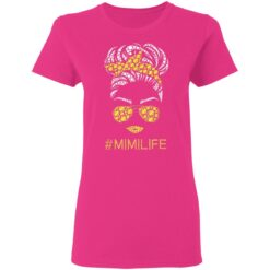 Mimi Life Softball Baseball Mothers Day Messy Bun T-Shirts 22 of Sapelle