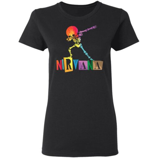 Funny Nirvana Color skeleton T-Shirts 8 of Sapelle