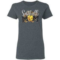 Softball Mom Leopard Funny Baseball Mom Mothers Day 2021 T-Shirts 25 of Sapelle