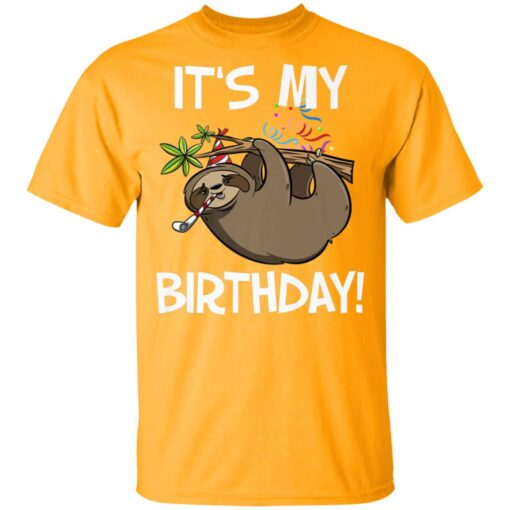 Its My Birthday Cute Sloth Party Outfit T-Shirts 3 of Sapelle