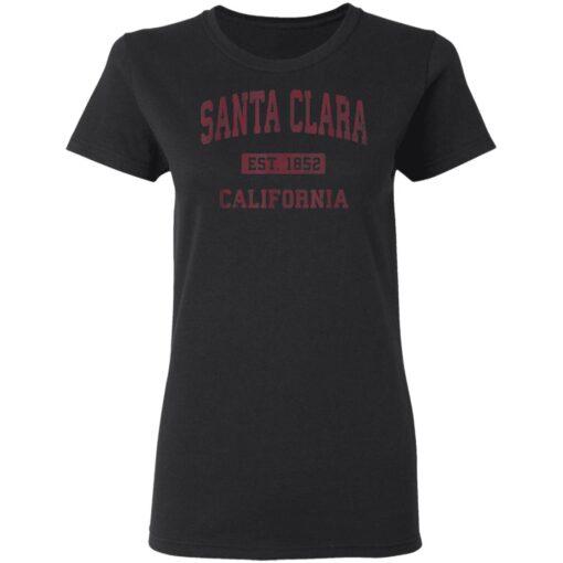 Santa Clara California CA Vintage Athletic Sports T-Shirts 8 of Sapelle