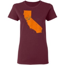 State Of California With Shark Swimming Near San Jose T-Shirts 33 of Sapelle