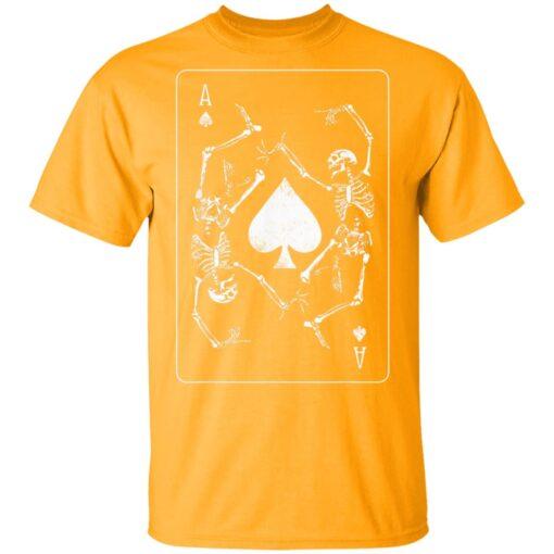Goth Punk Ace Of Spades Card Shark Gambler Skeleton T-Shirts 3 of Sapelle