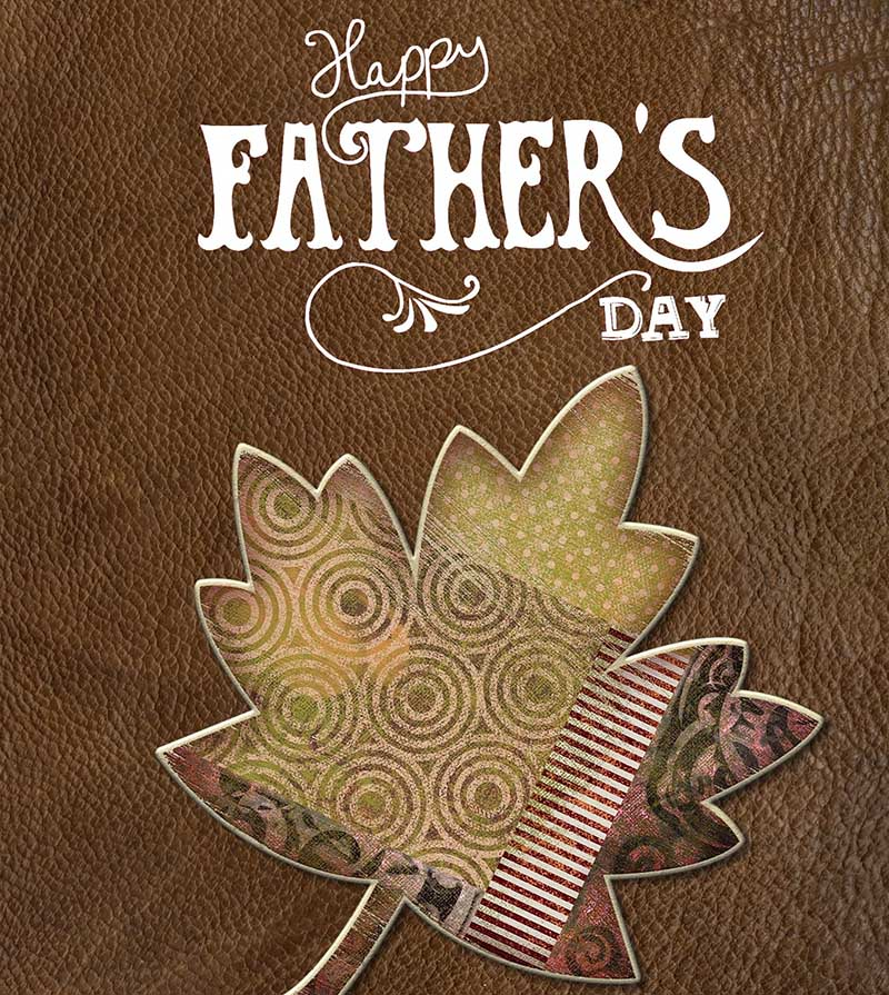 Happy Father's Day Image - On Leather