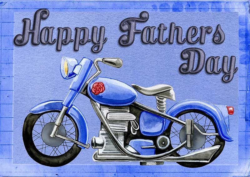 Happy Father's Day Image - With Motobike