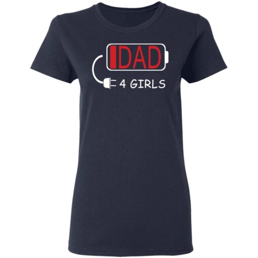 Best Fathers Day Gift Ideas Dad Of 4 Girls T-Shirts 12 of Sapelle