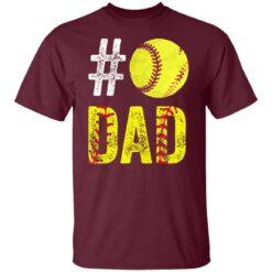 Best Softball Gift Shirt 2021 Softball Dad T Shirt T-Shirt 19 of Sapelle