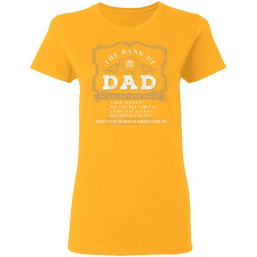 Best Funny Fathers Day Gift 2021 Bank Of Dad T-Shirt 10 of Sapelle
