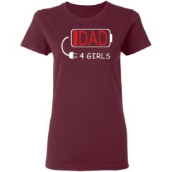 Best Fathers Day Gift Ideas Dad Of 4 Girls T-Shirt 33 of Sapelle