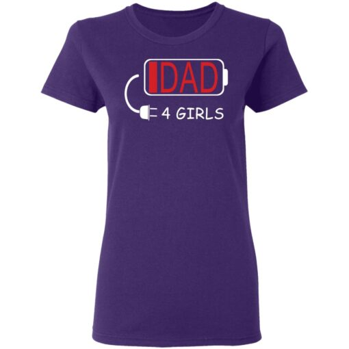 Best Fathers Day Gift Ideas Dad Of 4 Girls T-Shirt 13 of Sapelle