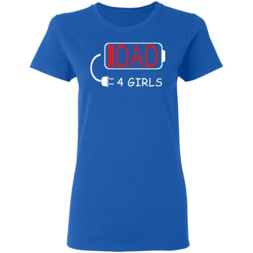 Best Fathers Day Gift Ideas Dad Of 4 Girls T-Shirt 14 of Sapelle