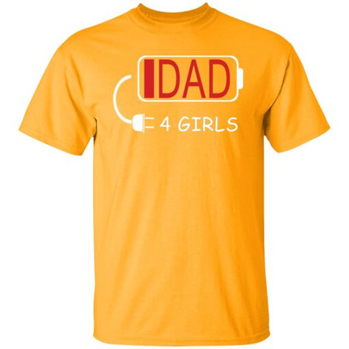 Best Fathers Day Gift Ideas Dad Of 4 Girls T-Shirt 3 of Sapelle