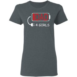 Best Fathers Day Gift Ideas Dad Of 4 Girls T-Shirt 29 of Sapelle
