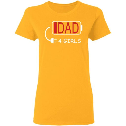 Best Fathers Day Gift Ideas Dad Of 4 Girls T-Shirt 10 of Sapelle