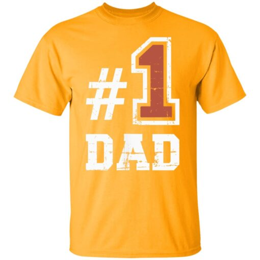 Best Number One Dad Gift 2021 1 Dad T-Shirt 3 of Sapelle
