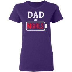 Best Fathers Day Gift Ideas Dad Of 2 Girls T-Shirt 37 of Sapelle