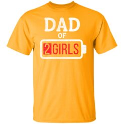 Best Fathers Day Gift Ideas Dad Of 2 Girls T-Shirt 17 of Sapelle