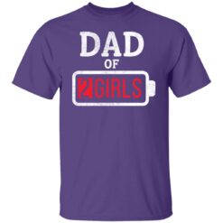 Best Fathers Day Gift Ideas Dad Of 2 Girls T-Shirt 23 of Sapelle