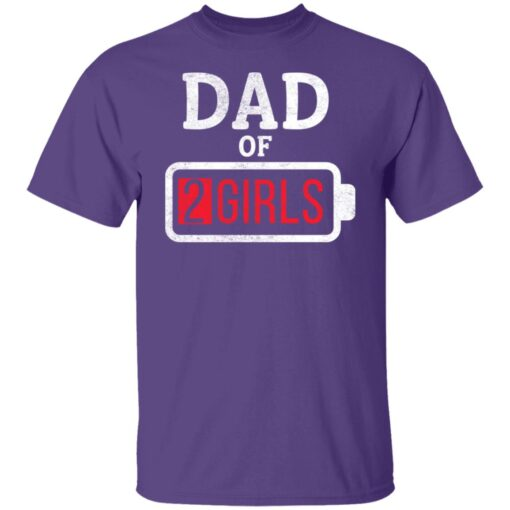 Best Fathers Day Gift Ideas Dad Of 2 Girls T-Shirt 6 of Sapelle